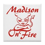 Madison On Fire Tile Coaster