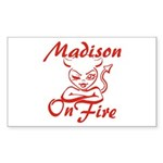 Madison On Fire Sticker (Rectangle)