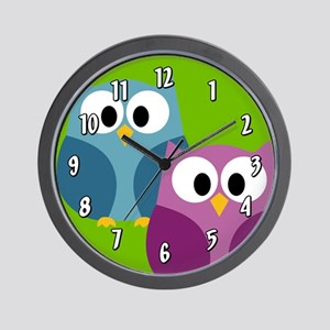 cute owl design Wall Clock