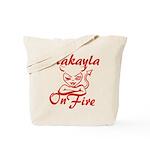 Makayla On Fire Tote Bag