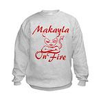 Makayla On Fire Kids Sweatshirt