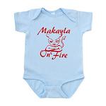 Makayla On Fire Infant Bodysuit