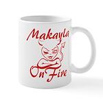Makayla On Fire Mug