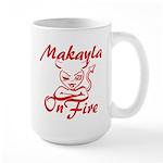 Makayla On Fire Large Mug