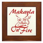 Makayla On Fire Framed Tile