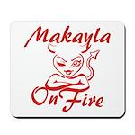 Makayla On Fire Mousepad