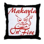 Makayla On Fire Throw Pillow