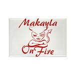 Makayla On Fire Rectangle Magnet