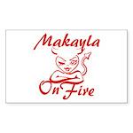 Makayla On Fire Sticker (Rectangle)
