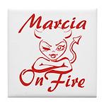 Marcia On Fire Tile Coaster