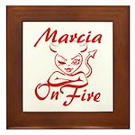 Marcia On Fire Framed Tile