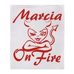 Marcia On Fire Throw Blanket