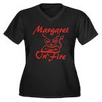 Margaret On Fire Women's Plus Size V-Neck Dark T-S