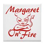 Margaret On Fire Tile Coaster