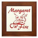 Margaret On Fire Framed Tile