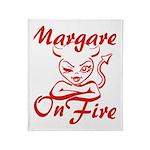 Margaret On Fire Throw Blanket