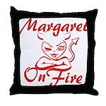 Margaret On Fire Throw Pillow