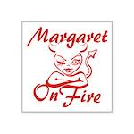 Margaret On Fire Square Sticker 3