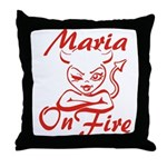 Maria On Fire Throw Pillow