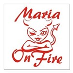 Maria On Fire Square Car Magnet 3