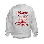 Marie On Fire Kids Sweatshirt