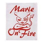 Marie On Fire Throw Blanket