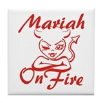 Mariah On Fire Tile Coaster