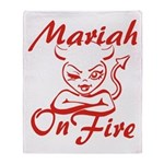 Mariah On Fire Throw Blanket