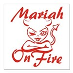 Mariah On Fire Square Car Magnet 3