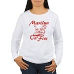 Marilyn On Fire Women's Long Sleeve T-Shirt