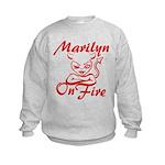 Marilyn On Fire Kids Sweatshirt
