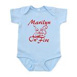 Marilyn On Fire Infant Bodysuit