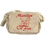 Marilyn On Fire Messenger Bag
