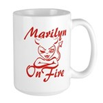 Marilyn On Fire Large Mug