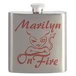 Marilyn On Fire Flask