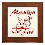 Marilyn On Fire Framed Tile
