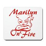 Marilyn On Fire Mousepad