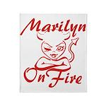 Marilyn On Fire Throw Blanket