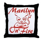 Marilyn On Fire Throw Pillow