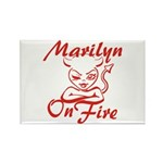 Marilyn On Fire Rectangle Magnet