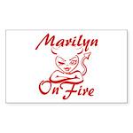 Marilyn On Fire Sticker (Rectangle)
