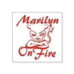 Marilyn On Fire Square Sticker 3