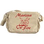 Marissa On Fire Messenger Bag