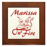Marissa On Fire Framed Tile