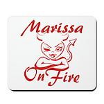 Marissa On Fire Mousepad