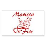 Marissa On Fire Sticker (Rectangle)