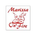 Marissa On Fire Square Sticker 3