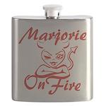 Marjorie On Fire Flask