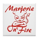 Marjorie On Fire Tile Coaster