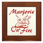 Marjorie On Fire Framed Tile